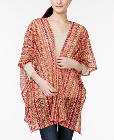 Cejon That's So '70s Zigzag Knit Cover Up