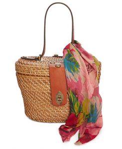 Patricia Nash Caselle Rattan Basket Bag