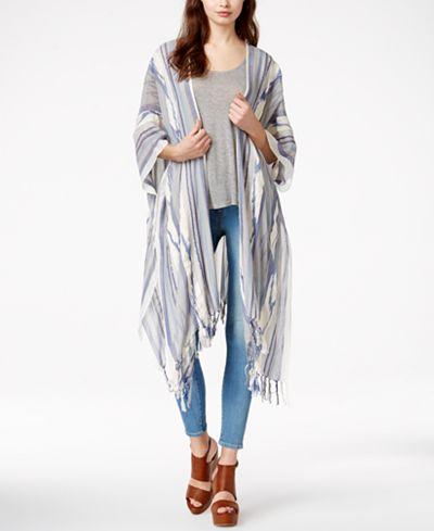 Steve Madden Ikat Yarn Dye Boho Kimono Cover Up