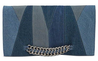 Sam Edelman denim clutch