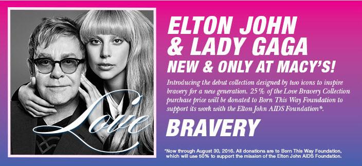 lady gaga, elton john, love bravery