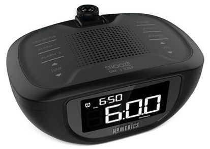 homemedics sound spa clock