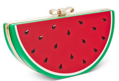 watermelon clutch handbag