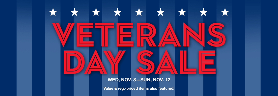 Veterans Day Sale Savings Pass