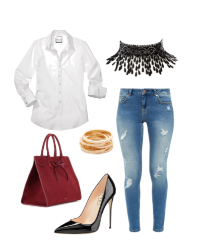 white-shirt-jeans-evening-outfit