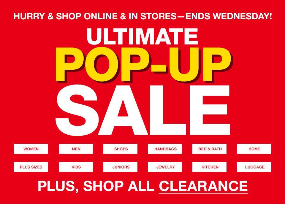 Macy S Ultimate Pop Up Sale Magic Style Shop