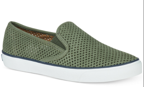 sperry green shoes