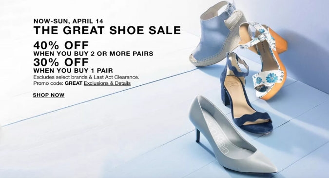 The Great Shoe Sale!