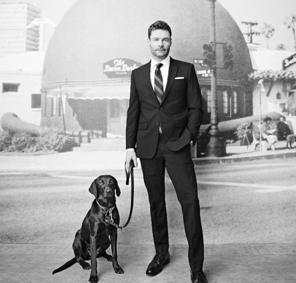 Ryan Seacrest Suit Dog