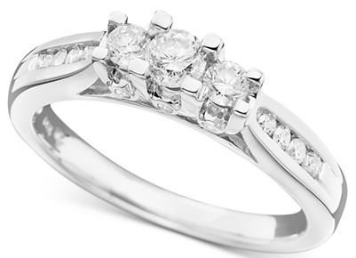 macy's 3 stone engagement ring