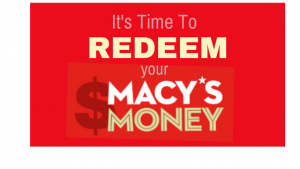 redeem your macy's money