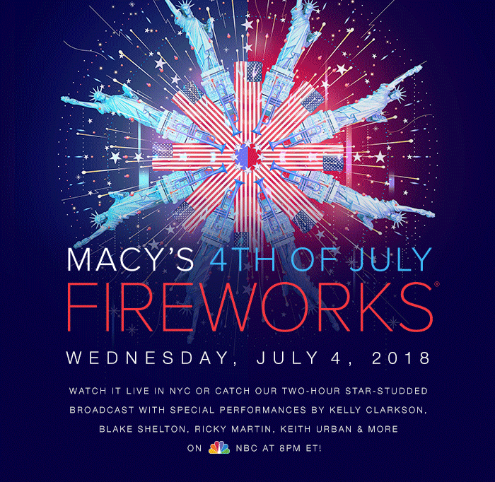Macy's 4th of July Fireworks Details