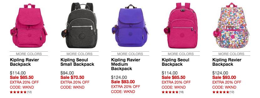 kipling-backpack-choices