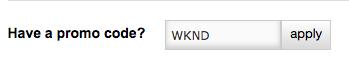 apply code WKND
