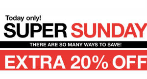 EXTRA 20% OFF ENDS SUNDAY!