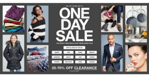 Macy's One Day Sale Doorbusters and Deals {October 2017}
