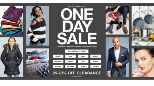 Macy's One Day Sale Doorbusters and Deals {October 2017}