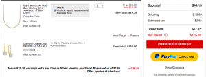 gold chain free diamond earring offer is a big deal at Macy's