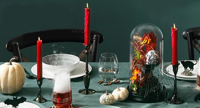 halloween table transition