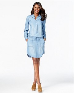 inc denim dress macys