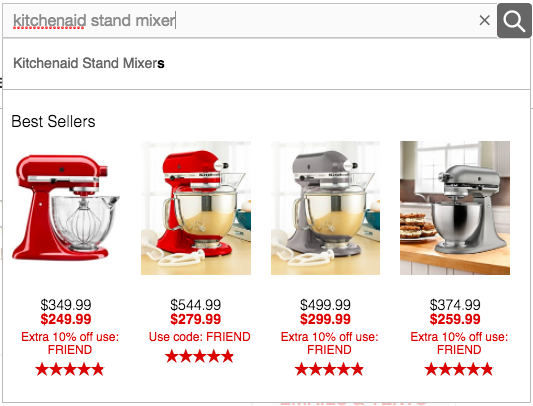 kitchenaid stand mixer search