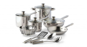 Tools of the Trade Stainless Steel 13-Pc. Cookware Set for Only $34.99!