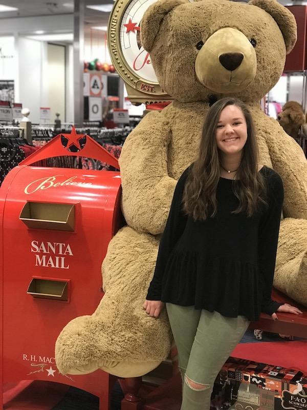 Macy's Believe Kariss bear