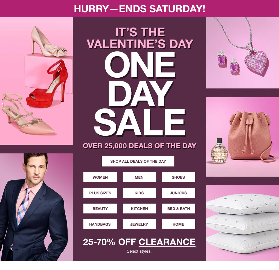 Macy's One Day Sale Doorbusters and Deals {February 2018}