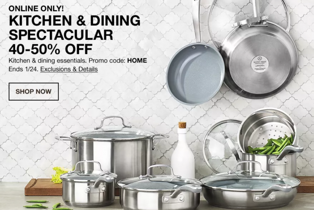 Macy's Warehouse Sale- Kitchen Sale