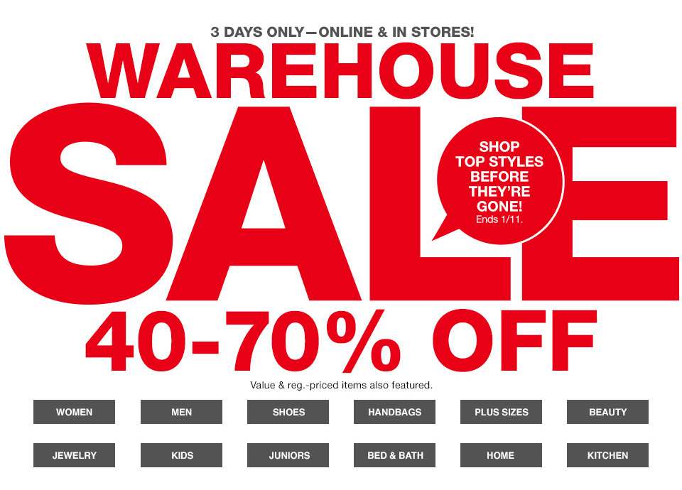 Macy's Warehouse Sale