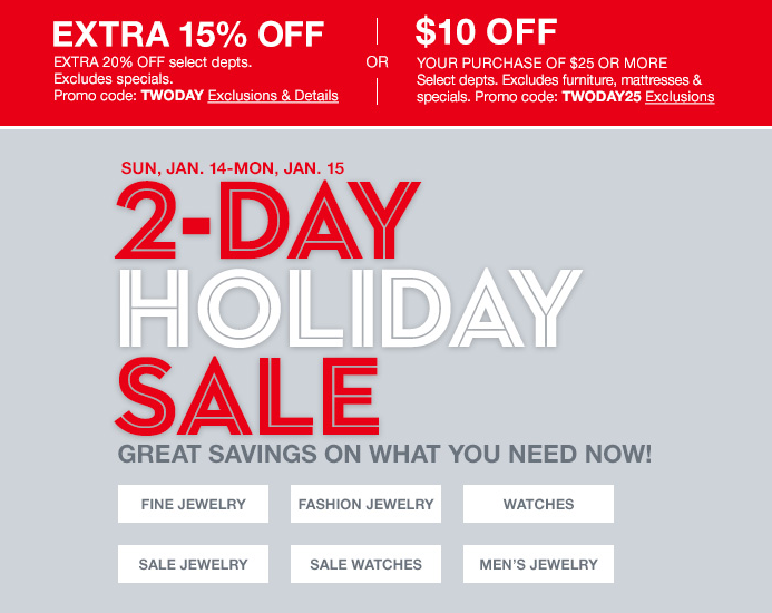 Two-Day Holiday Sale