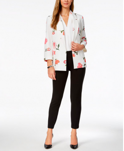 Nine West Printed Blazer