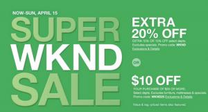 Macy's Super Weekend Sale {April 2018}