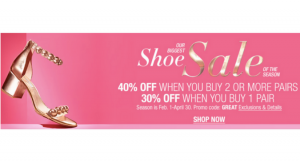 Macy's Biggest Shoe Sale of the Season