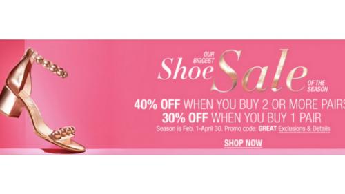 Macy's Biggest Shoe Sale of the Season