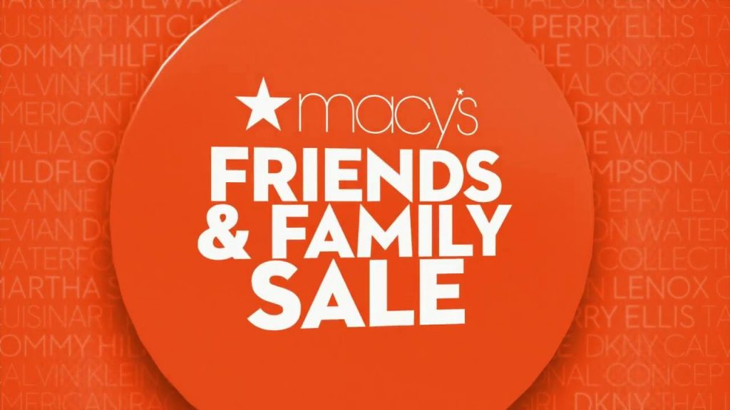 macys friends and family sale