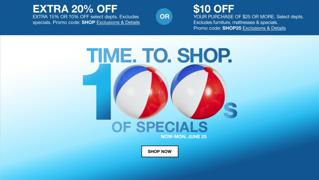 It's Time to Shop! 2 Ways to Save on 100s of Specials