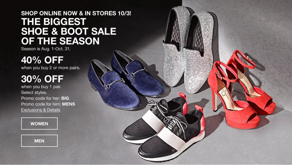 Macy's Biggest Shoe & Boot Sale of the Season