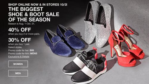 Macy's Biggest Shoe & Boot Sale of the Season