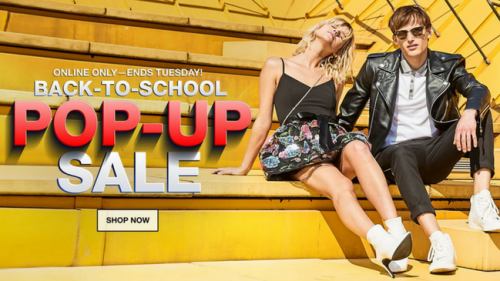 Macy's Back-To-School Pop-Up Sale