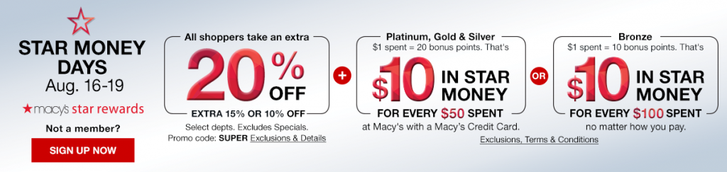 Macys Super Weekend Sale August 2018