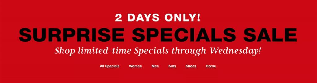 Macy's Surprise Specials!
