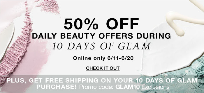 10 Days of Glam- Daily Beauty Deal