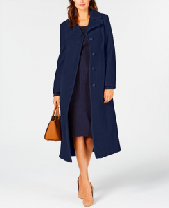 Anne Klein - Single-Breasted Maxi Coat