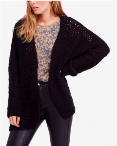 Free People - Saturday Morning Oversized Open-Front Cardigan