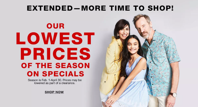 Lowest Price of the Season Sale