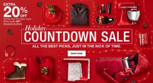 Macy's Holiday Countdown Sale