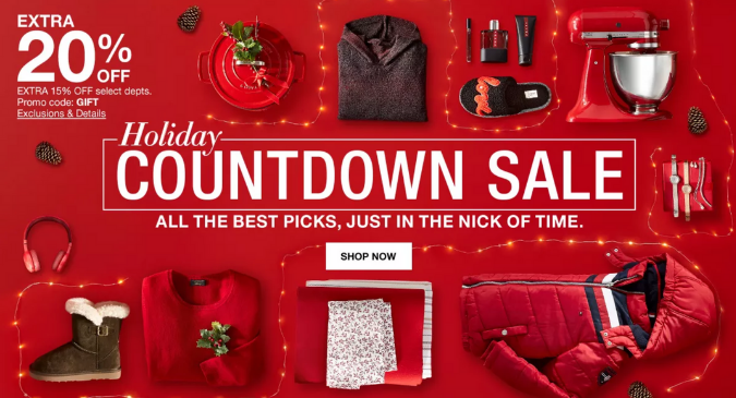 Macy's Holiday Countdown Sale