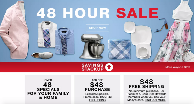Don't Miss the Macy's 48 Hour Sale