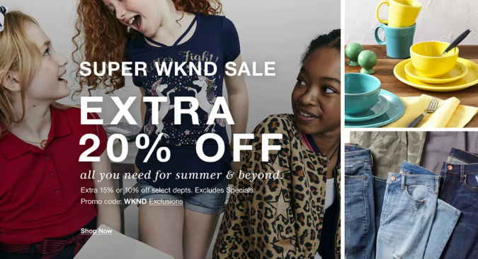 Start Saving at the Macy's Super Weekend Sale (1)